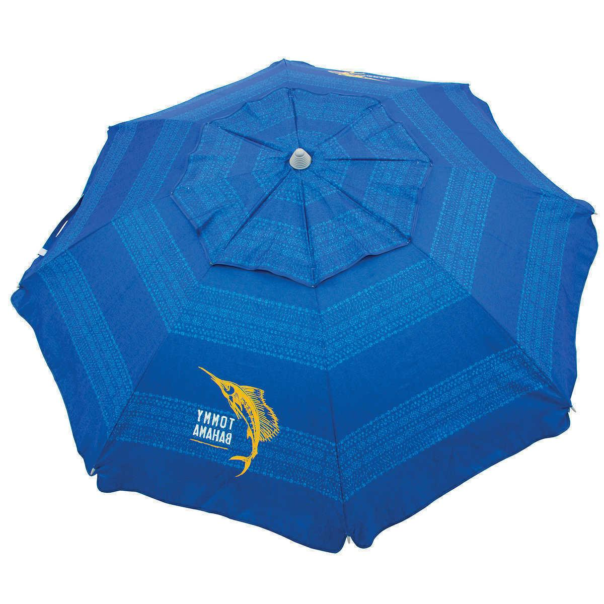 Tommy Bahama Beach Umbrella in Color Blue New 2019 FREE SHIP