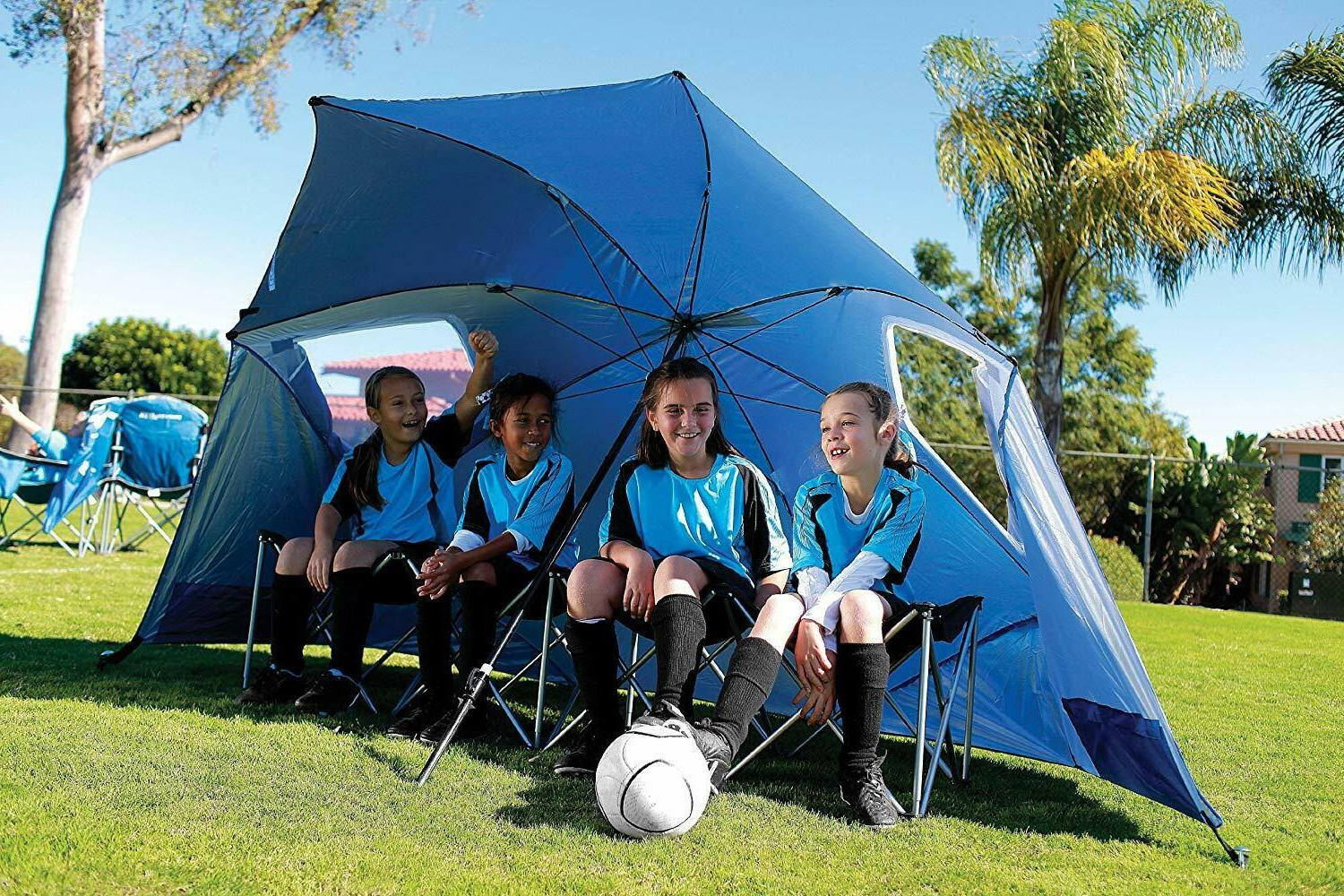 Beach Family Pool Shelter 8-Foot Blue