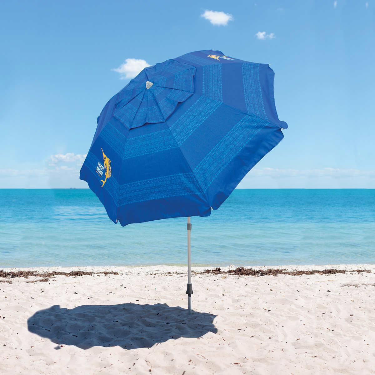 sand anchor 7 ft beach umbrella blue