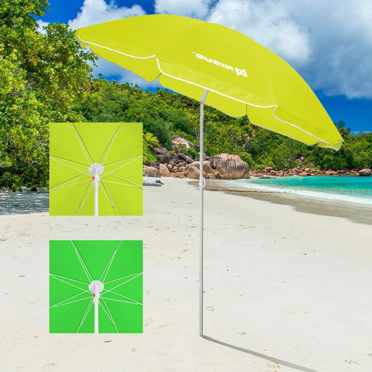 beach umbrella with tilt for camping outdoor