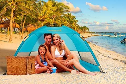 Alvantor Tent Shelter Cabana Automatic Pop Up UPF Sun Shade Fishing Hiking Easy Set Up or 4