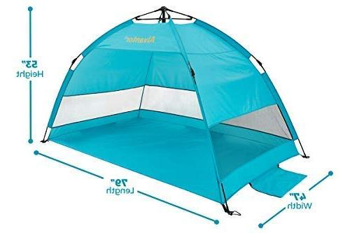 Alvantor Beach Shelter Cabana Up Shade Hiking Easy Up Windproof 4 Person