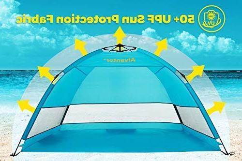 Alvantor Beach Beach Outdoor Sun Shelter Automatic Up Shade Portable Fishing Hiking Easy Set Up 3 or 4