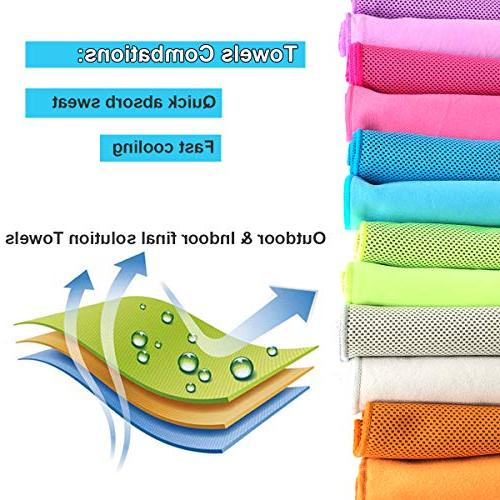 Cooling Towel Dry Towel Cool 2 Towels Cooling Relief Cold Neck Wrap Dry Compact Travel Bath Golf Gym