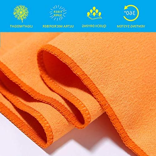 Dry Cool 2 Towels Instant Cooling Cold Neck Microfiber Dry Travel Yoga Gym