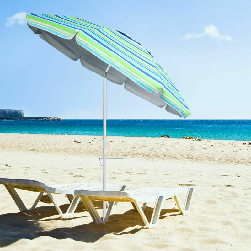 6.5/7' Ft Sand Sand Anchor UPF 50+ Sun Protection W/ Bag