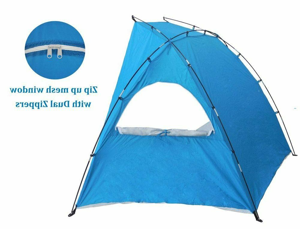 Huge 9-ft Beach Sun Tent Family Camping XL