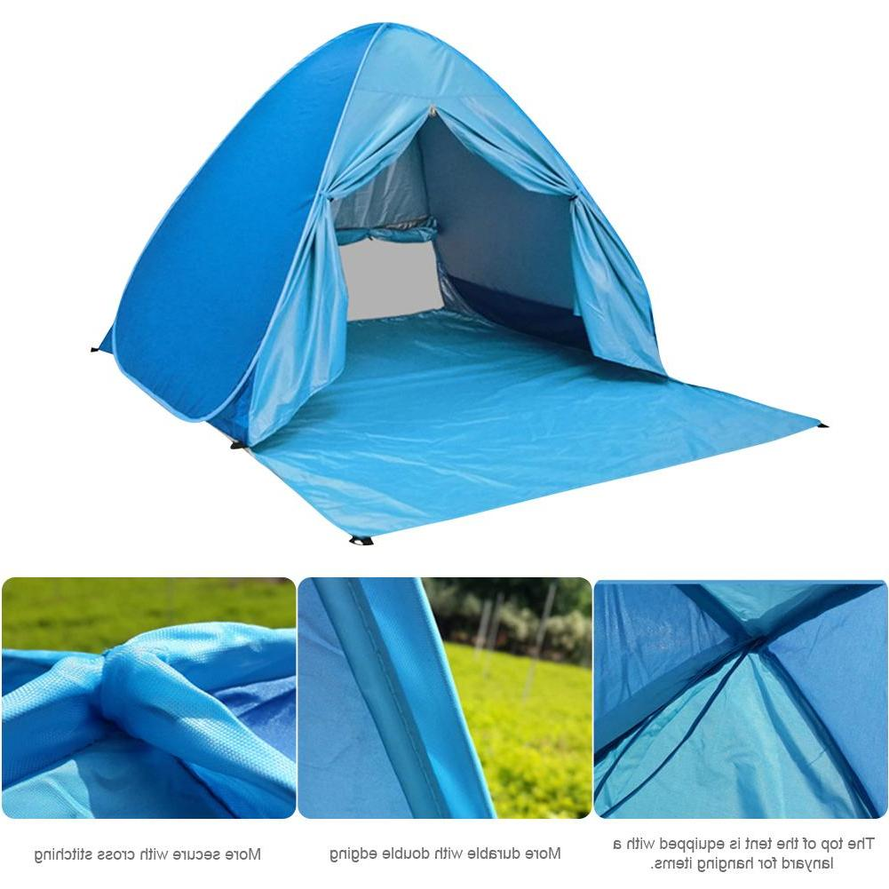 Large Pop <font><b>Beach</b></font> Tent Outdoor 2-3 Person Fishing Anti UV Shelter Portable