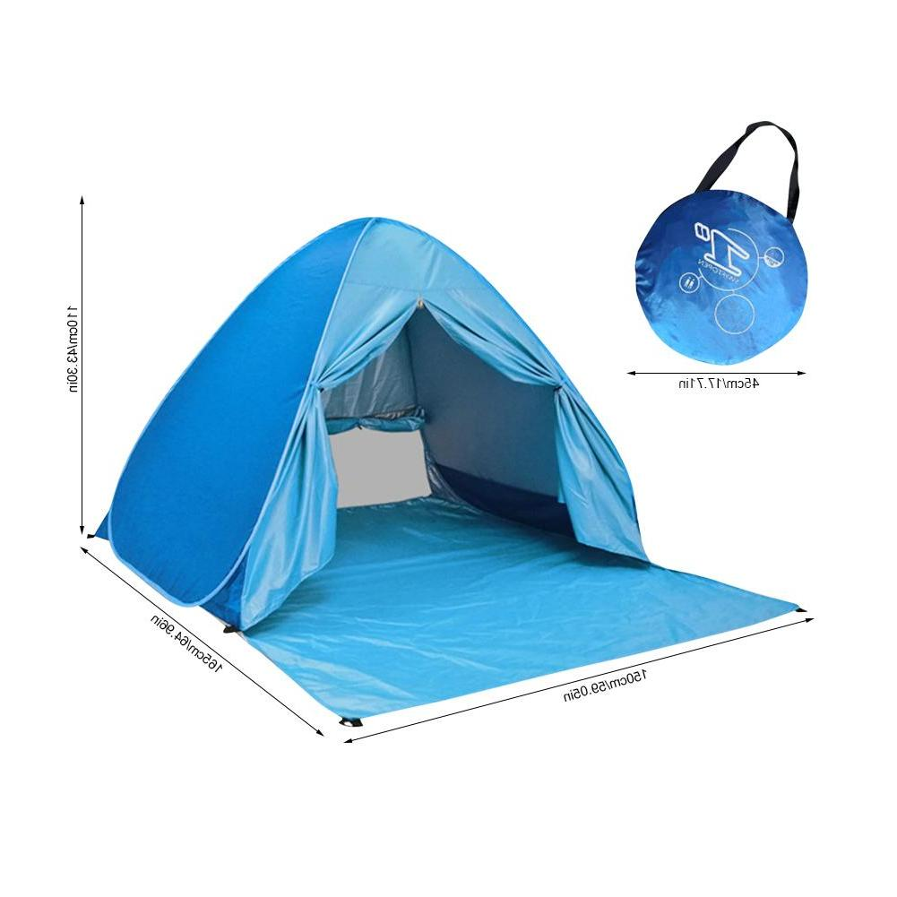 Large <font><b>Beach</b></font> Tent Outdoor 2-3 Person Anti UV Sun Portable