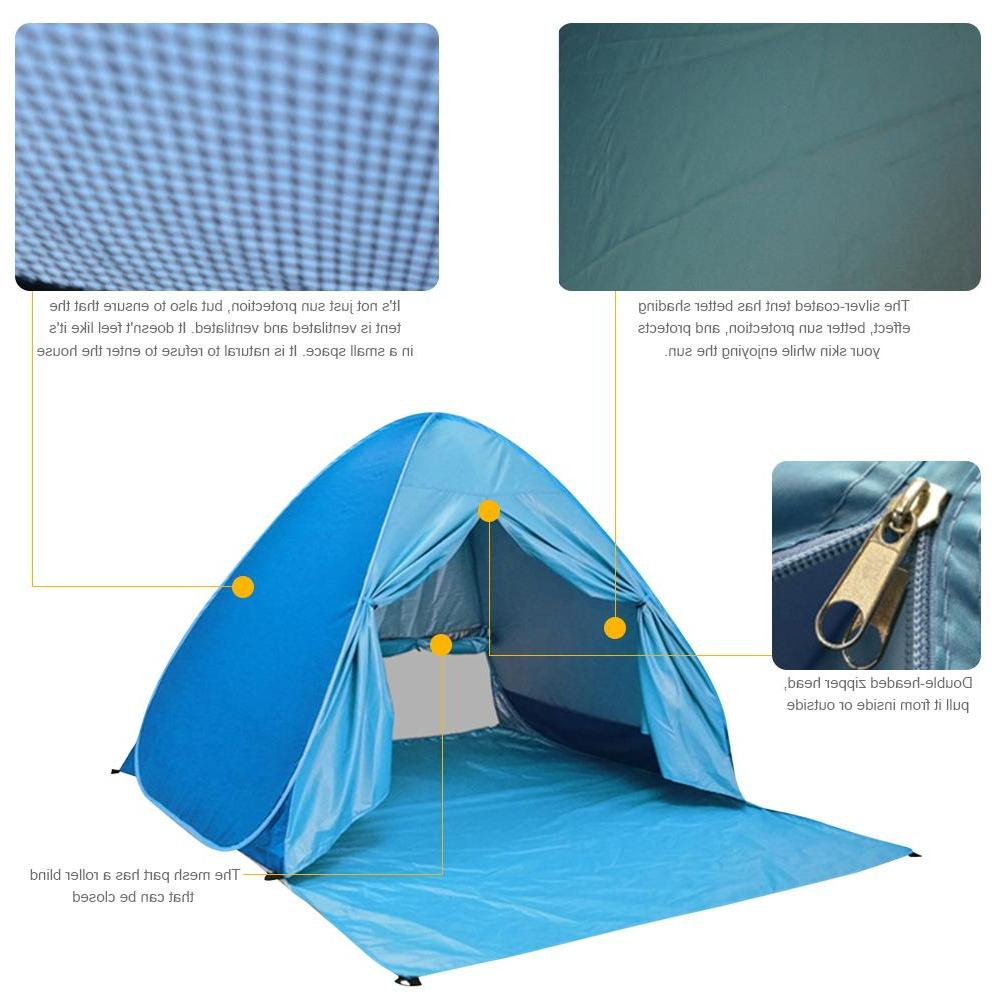 Large Tent Outdoor Cabana Sun 2-3 Person UV Shelter Portable