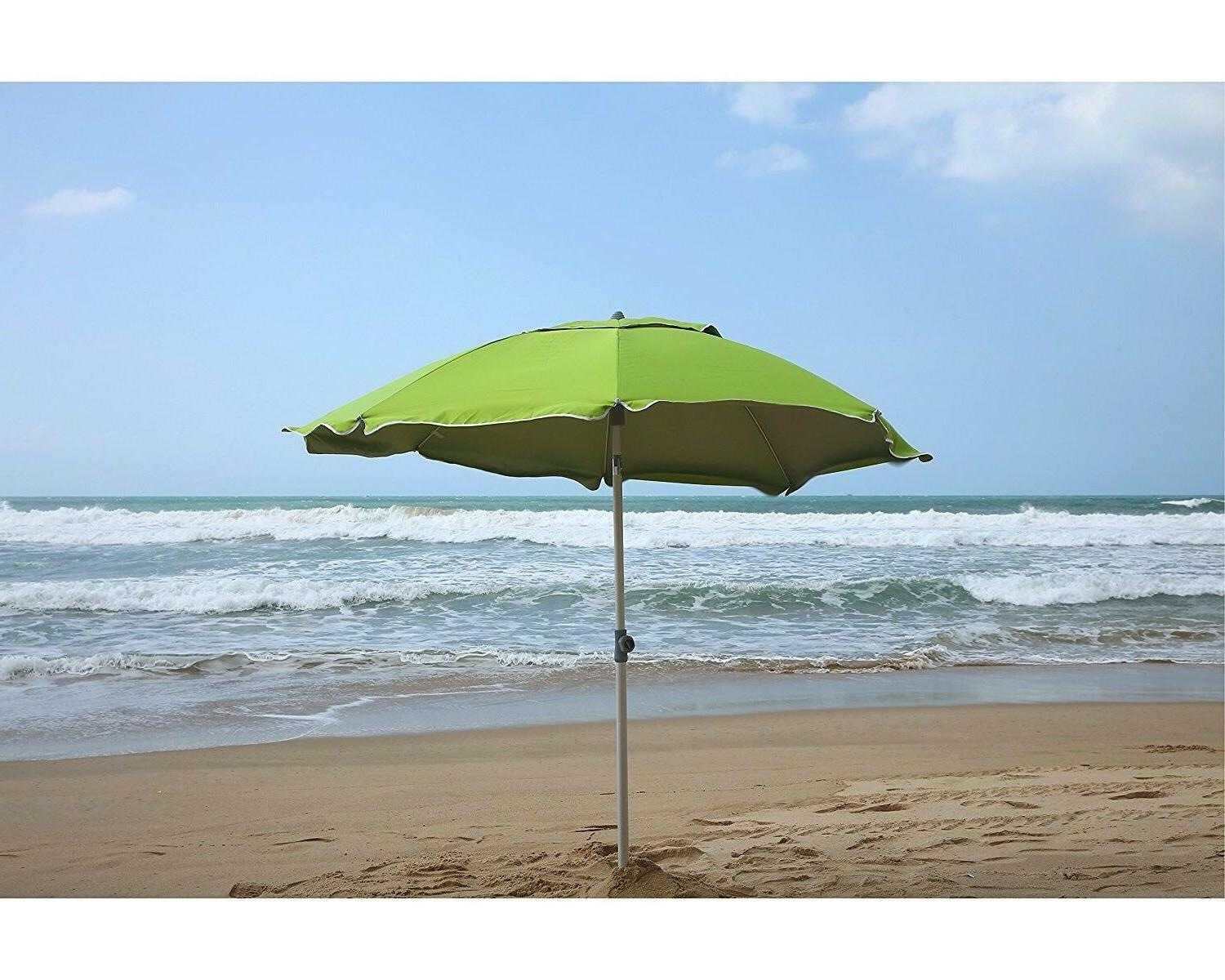 AMMSUN 6.5 8 Sand Anchor Beach Umbrella w/ Silver
