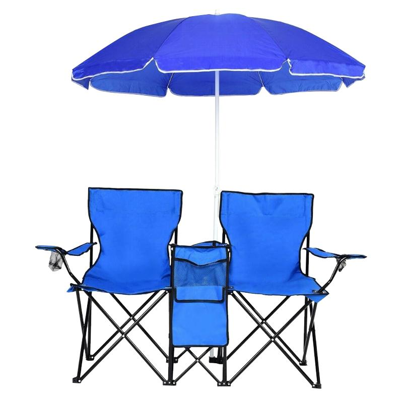 New Camping Fishing Chairs Umbrella&bag US