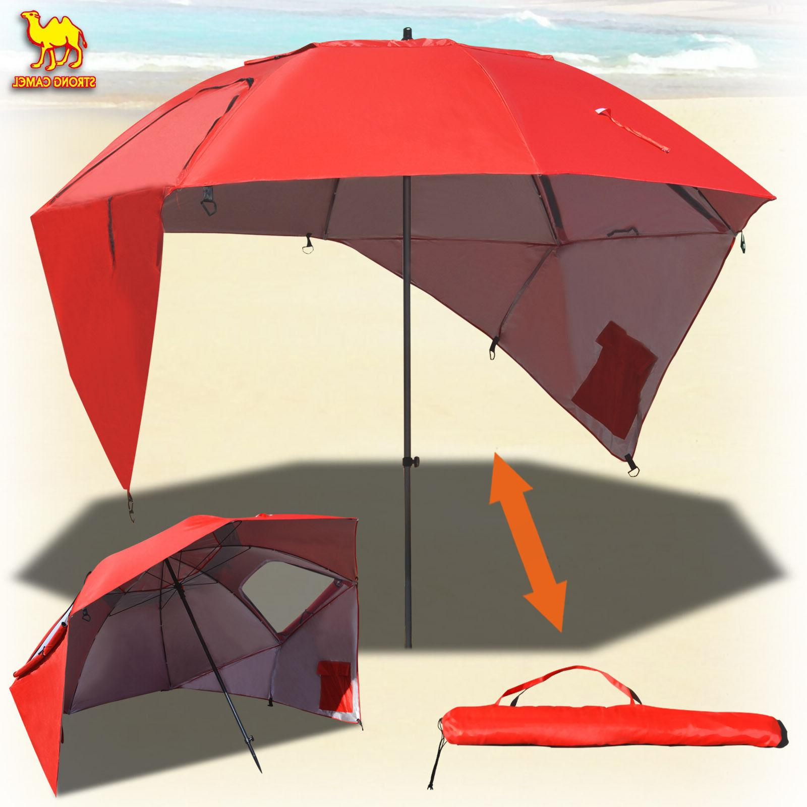 new portable sun and weather umbrella shelter