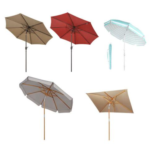 outdoor patio umbrella wood market beach camping