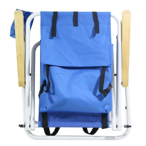 Picnic Double Folding w Table Fold Up Beach Chair