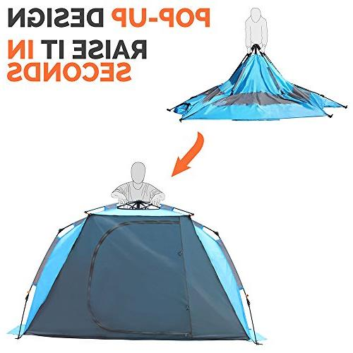 OutdoorMaster Beach Tent - to Set Portable Shade SPF 50+ UV for &