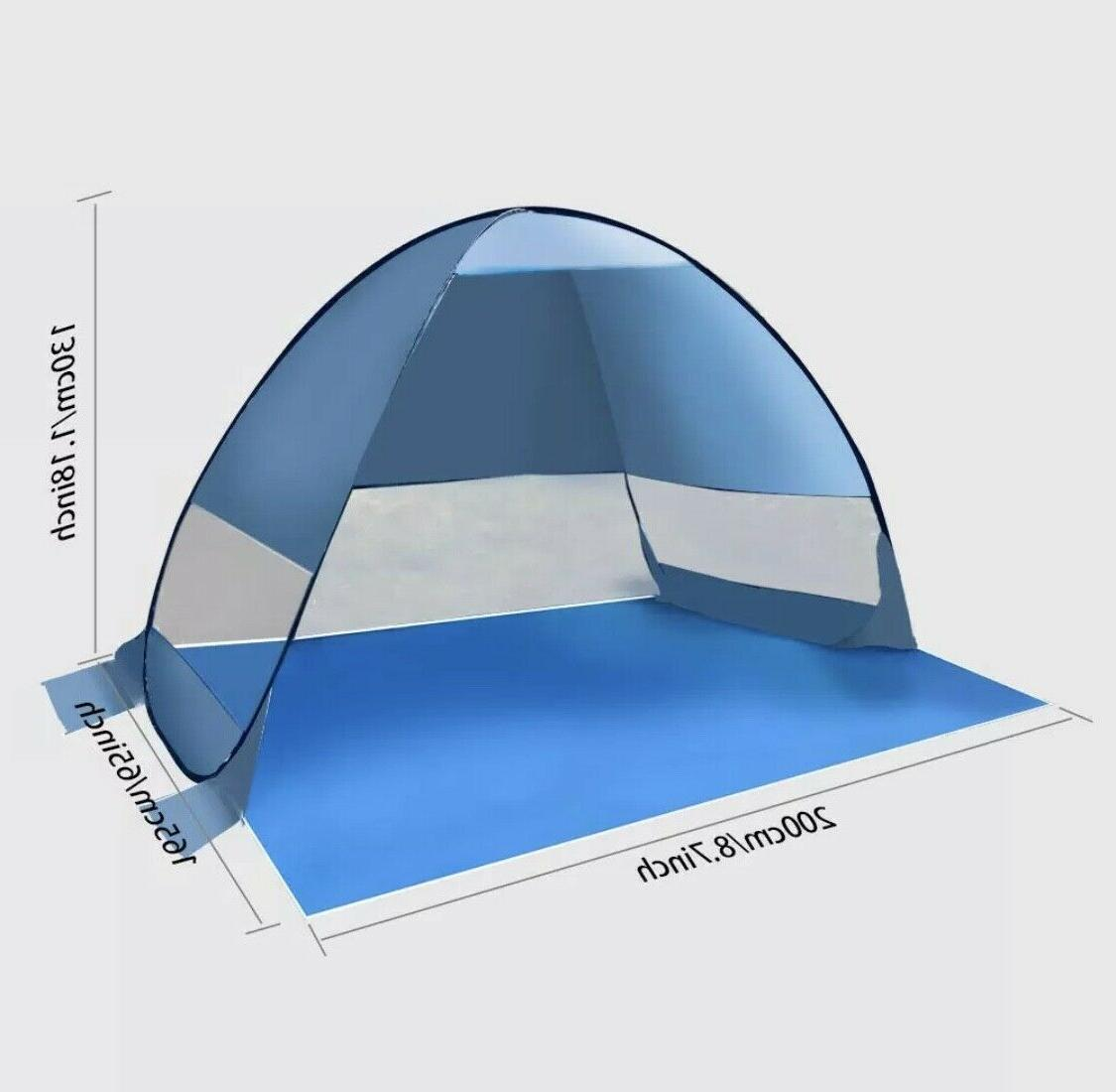 Pop Up Tent Automatic Beach Outdoor 50 UV protection Sun