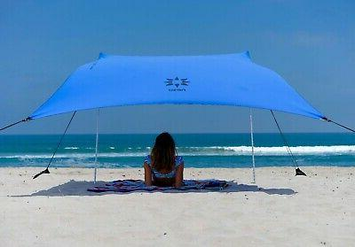separation shoes df2c9 5a215 Outdoor Portable Beach Tent with Sand Anchor Canopy Sun Shelter Carrying Bag
