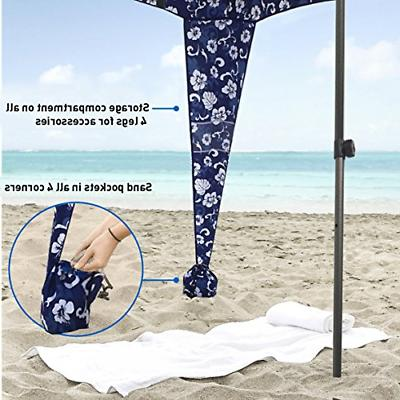 EasyGO Products Umbrella & Sports Cabana, Flowers,