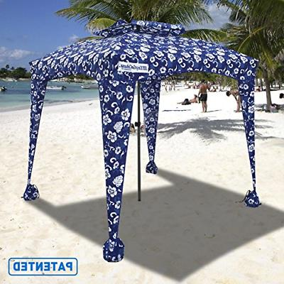 products beach umbrella and sports cabana blue