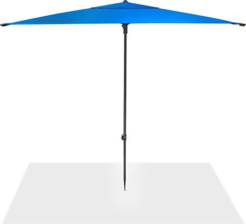 CleverMade QuadraBrella - 5' Outdoor Beach Umbrella For and Wind Carry and
