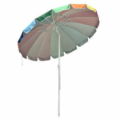 8' Outdoor Sunshade Crank Tilt Pool