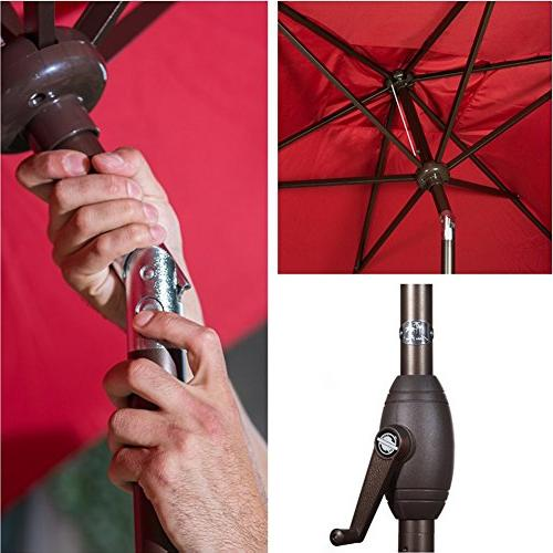 Abba Patio Umbrella with Button Tilt 6.6 by
