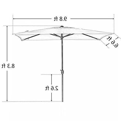 Abba Rectangular Umbrella Umbrella with by 9.8