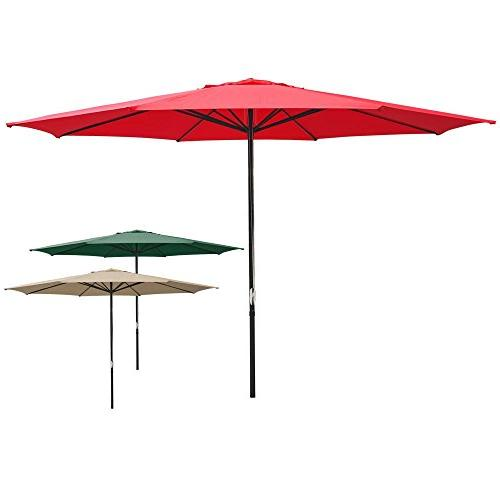 red sun shading aluminum umbrella