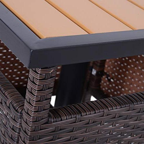 """Outsunny 22"""" Steel Rattan Wicker Outdoor Patio Accent Insert"""