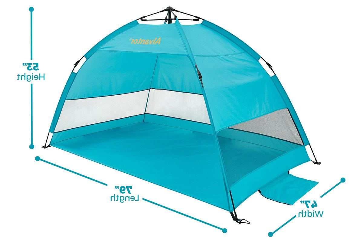 Waterproof Super Beach Tent Sun Shelter Umbrella Auto Pop-up
