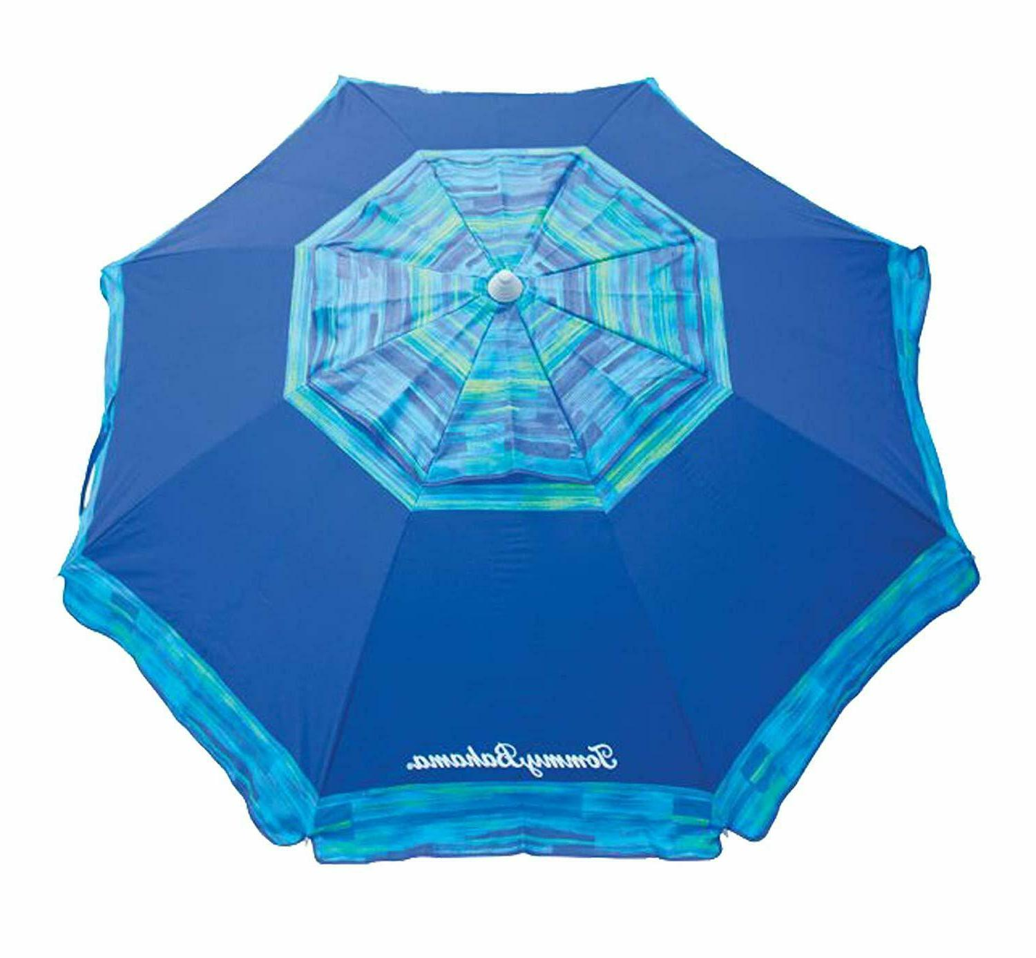 Tommy Bahama 7 ft Beach Umbrella Collection - Blue