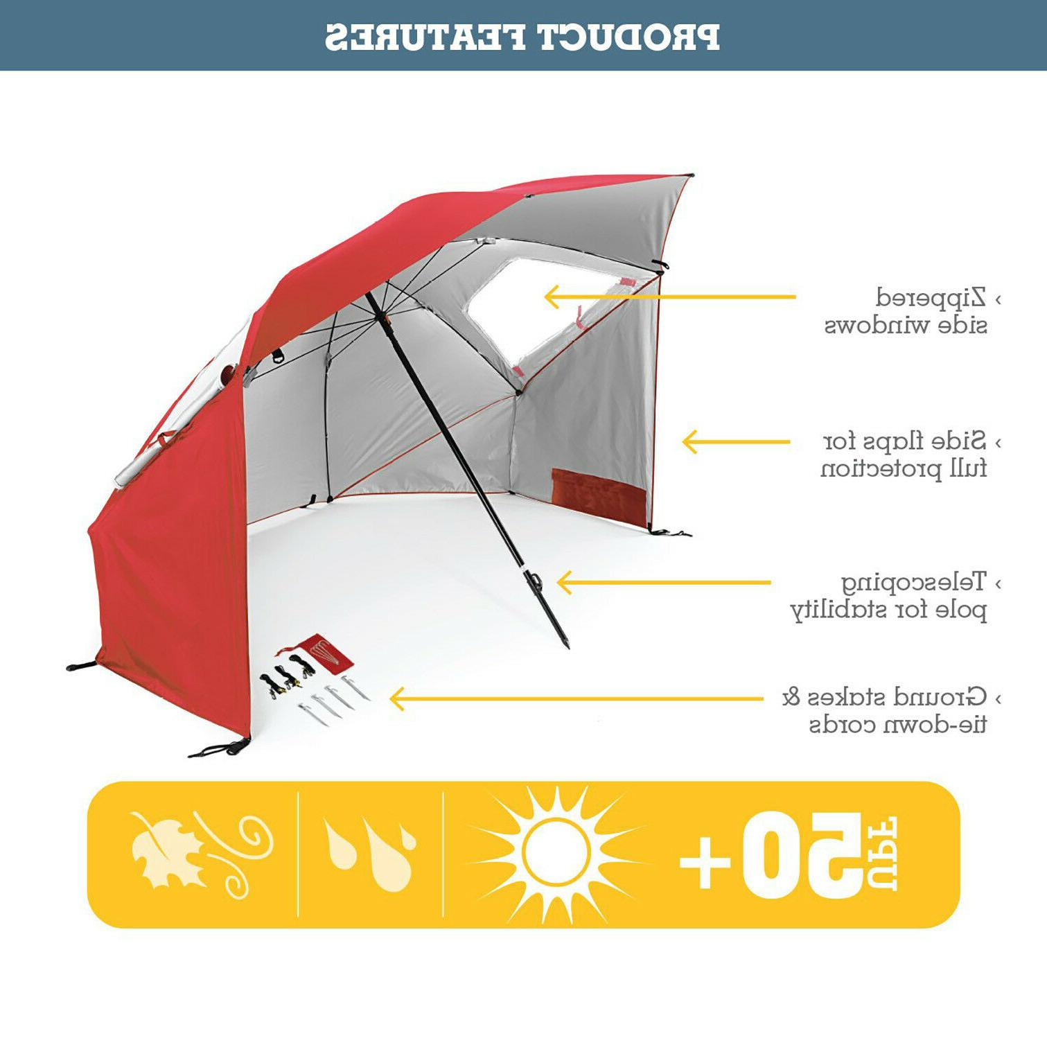 UMBRELLA CANOPY TENT 8 Ft Beach Family Camping Sports
