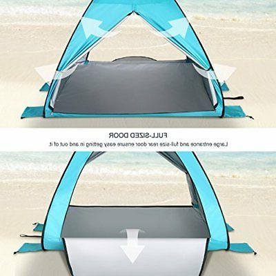 WolfWise 50+ Easy Pop Up Beach Tent Instant Baby Canopy