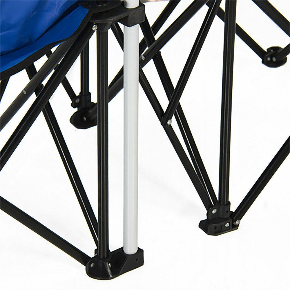 US Chair Picnic Double Folding Table W/Umbrella