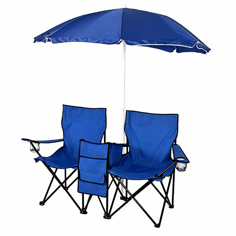 US Double Folding Table W/Umbrella