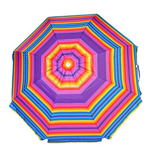 wind resistant beach umbrella
