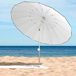 Large 8 ft Beach Patio umbrella for Outdoor Beach Camping, S
