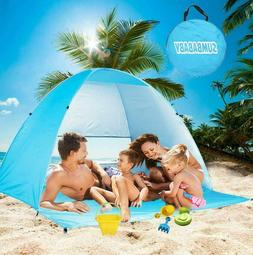Large Beach Tent Uv Pop Up Sun Shelter Tents Big Portable Au