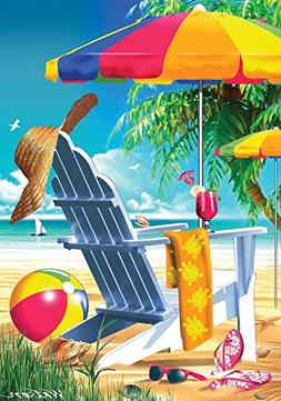 Lazy Days Summer House Flag Beach Chair Umbrella Nautical 28