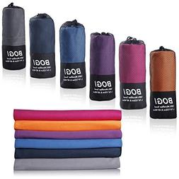 BOGI Microfiber Travel Sports Towel--Antibacterial Dry Fast