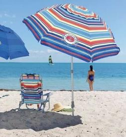 Tommy Bahama Multi Color 7 Foot Beach Umbrella w/ Carrying B