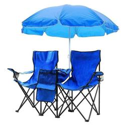 Outdoor beach fishing chair with blue umbrella for your holi