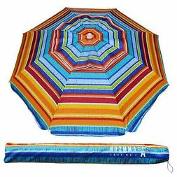 AMMSUN 6.5 ft Outdoor Patio Beach Umbrella Sun Shelter with
