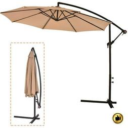 Patio Umbrella Offset 10' Hanging Cantilever Beach Garden Ou
