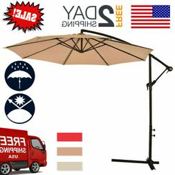 patio umbrella offset 10 hanging umbrella outdoor