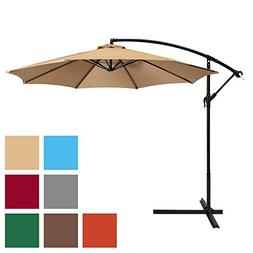 Patio Umbrella Offset 10' Hanging Umbrella Outdoor Market Um