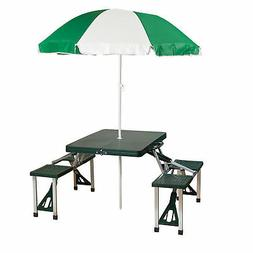 Stansport Picnic Table and Umbrella Combo Pack
