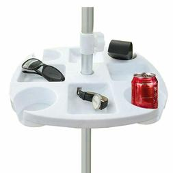 plastic beach umbrella table tray with cup