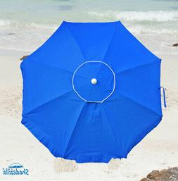 Platinum 6.5 ft Polyester UPF 100 Beach Umbrella with Vent &